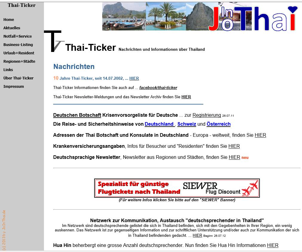 You are currently viewing Vorstellung meiner Seite im Thai-Ticker!