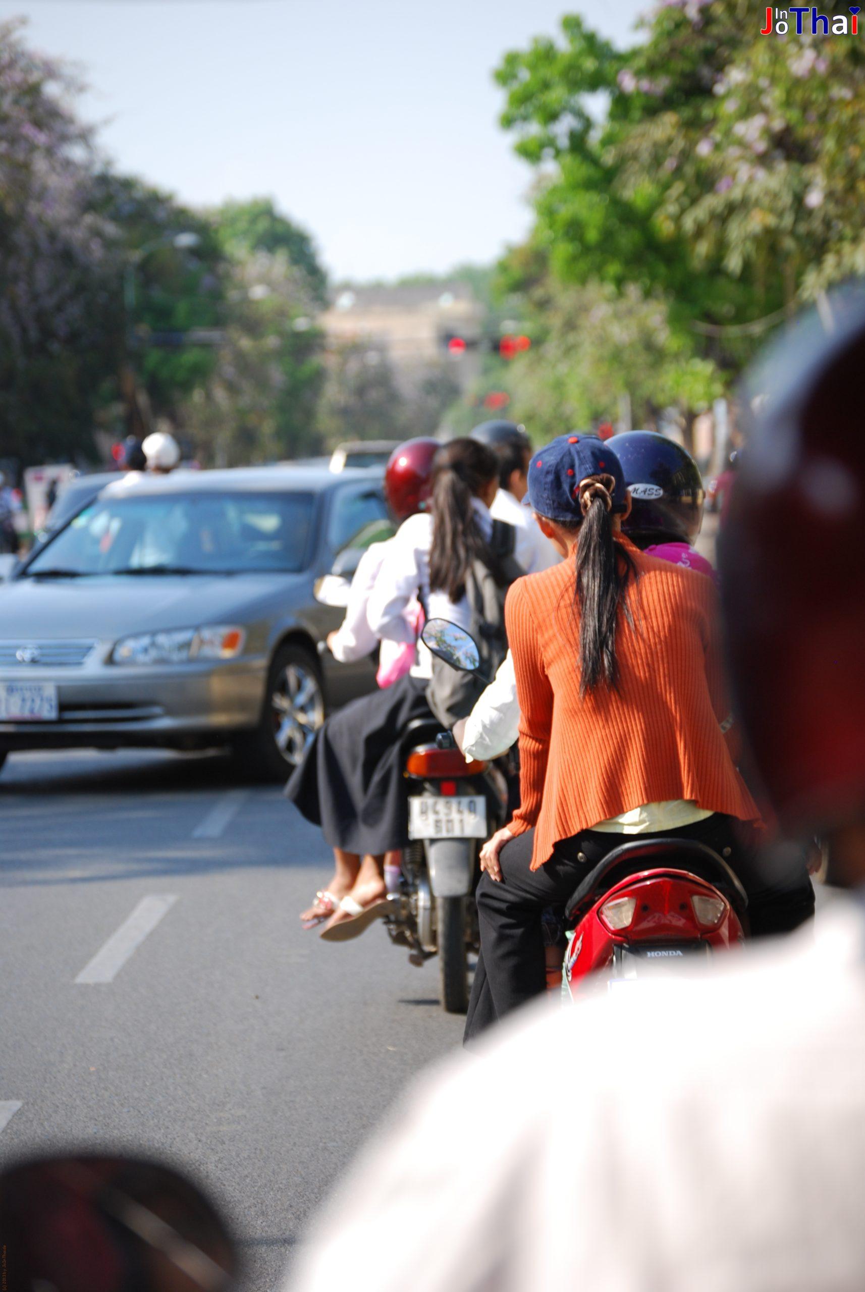 Straße in Phnom Penh - Kambodscha