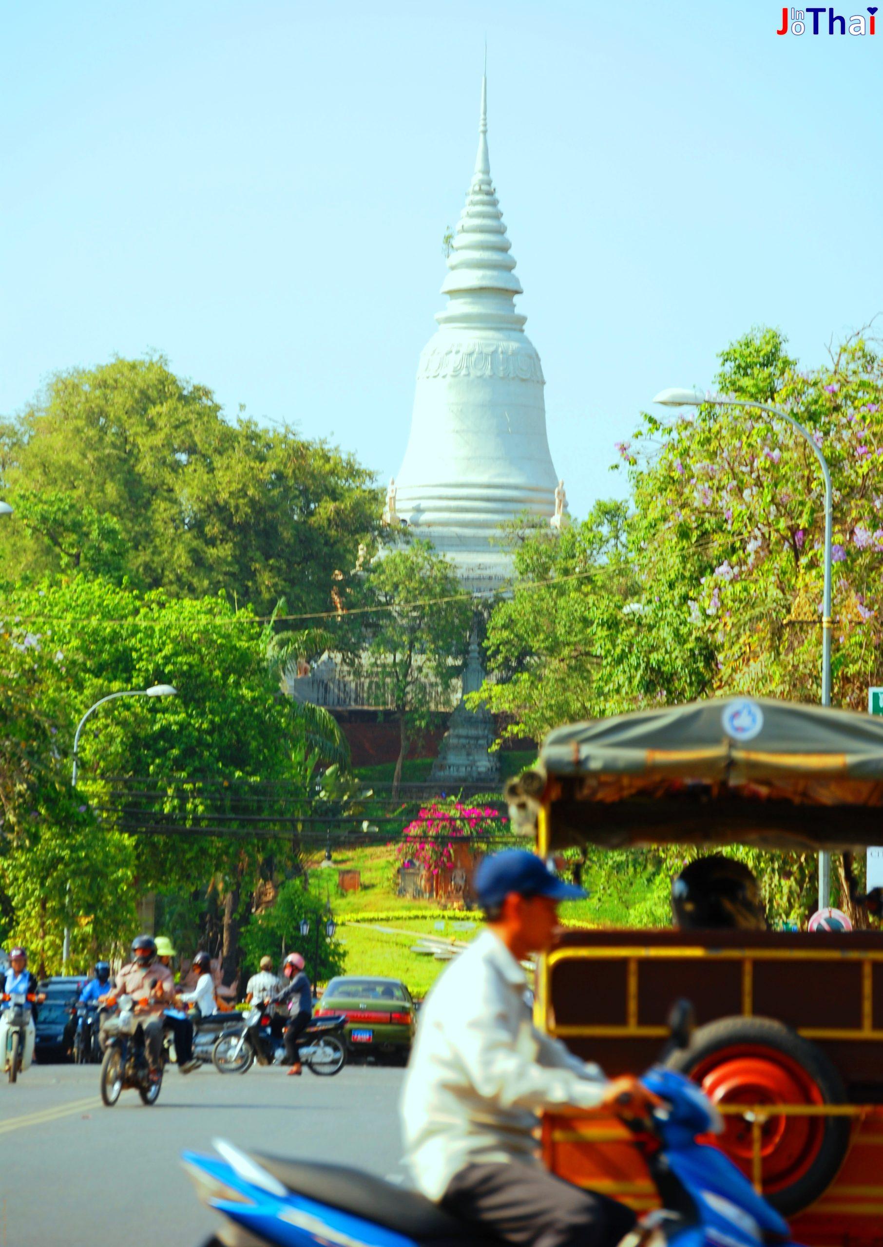 Auf dem Weg zum Wat Phnom in Phnom Penh - Cambodia