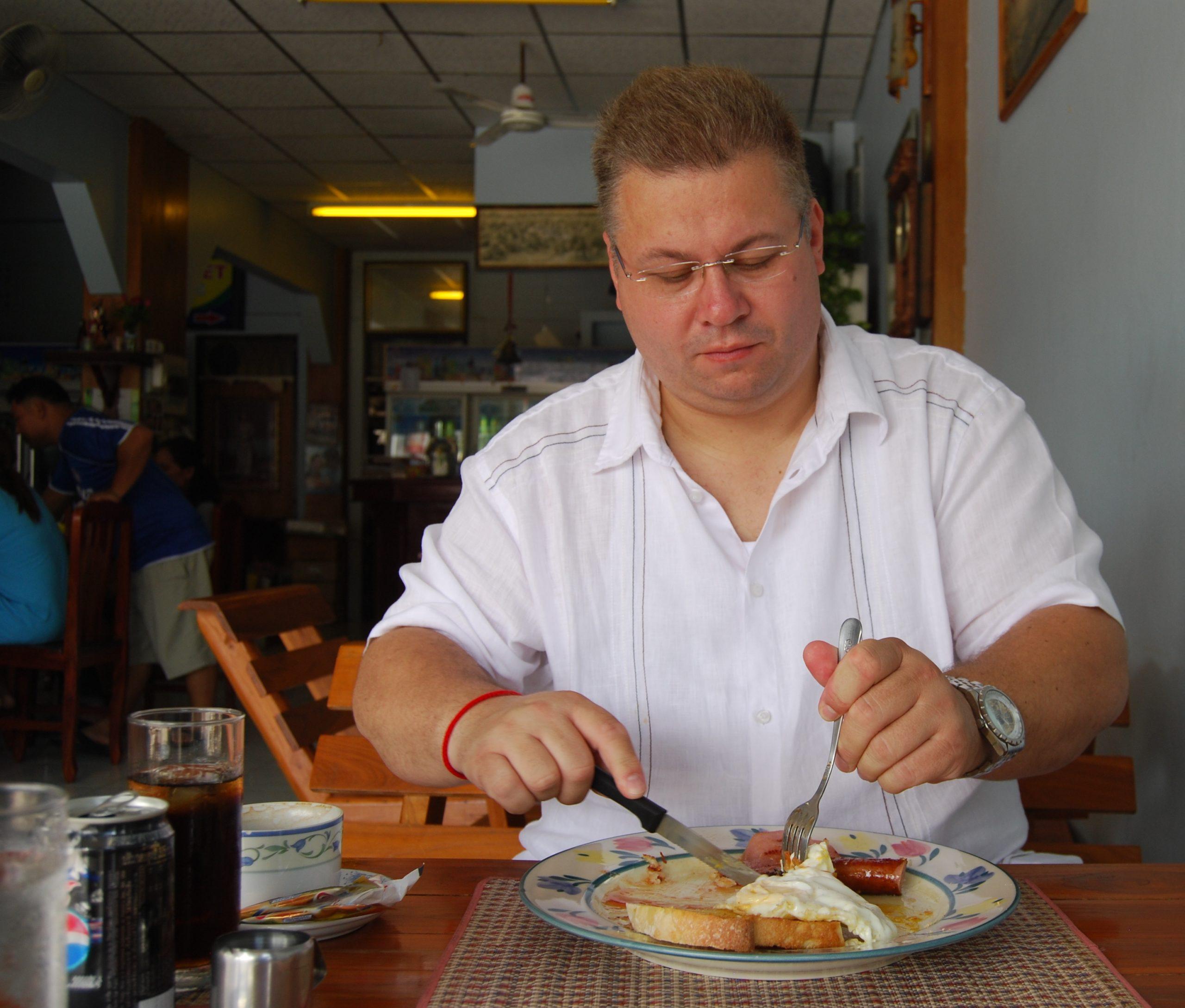 Frühstück in der Farang-Connection,Surin - Thailand