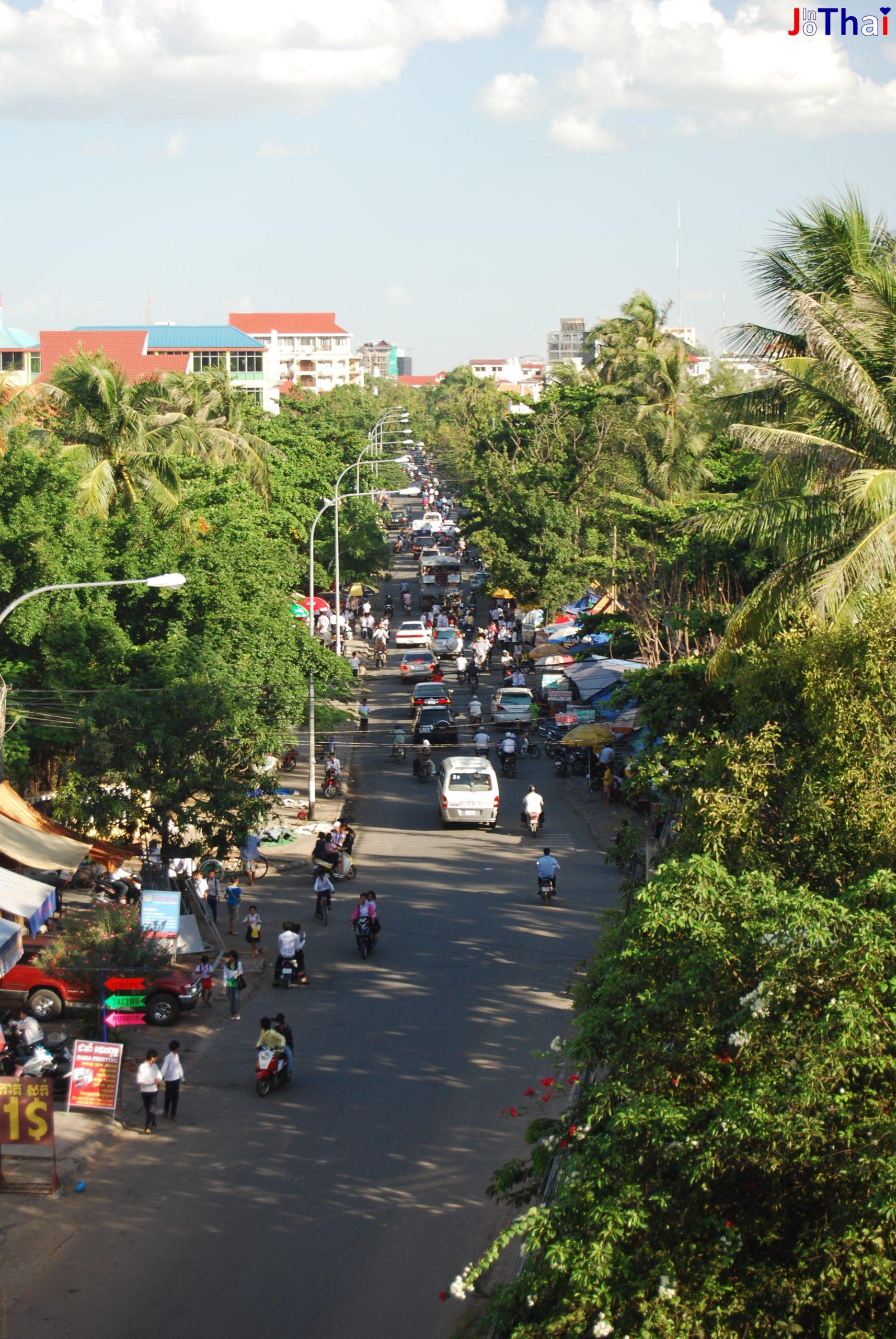 Blick vom Walkabout Hotel, Phnom Penh - Cambodscha