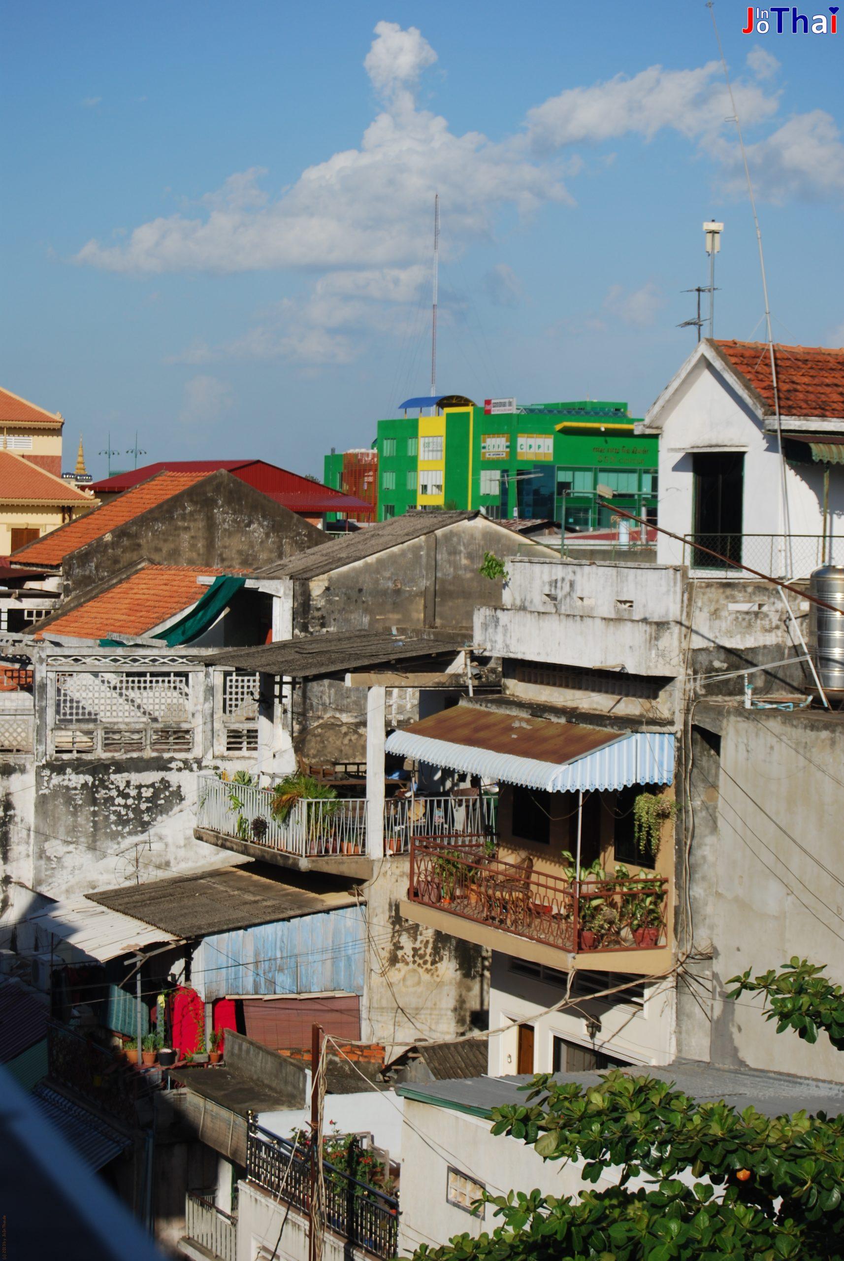 Blick von meiner Terrasse des Walkabout Hotel, Phnom Penh - Kambodscha
