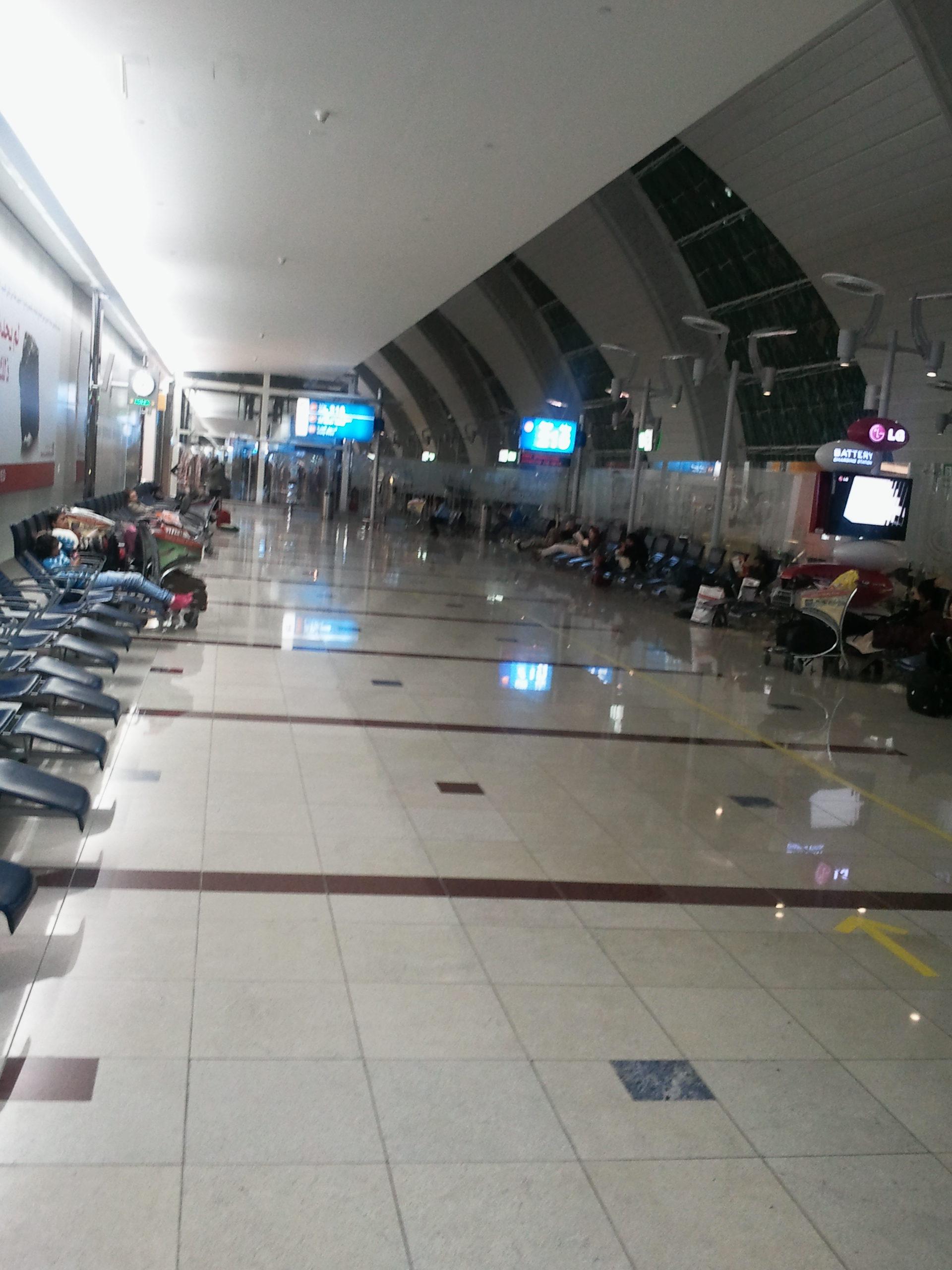 Flug-Gate am Dubai International Airport