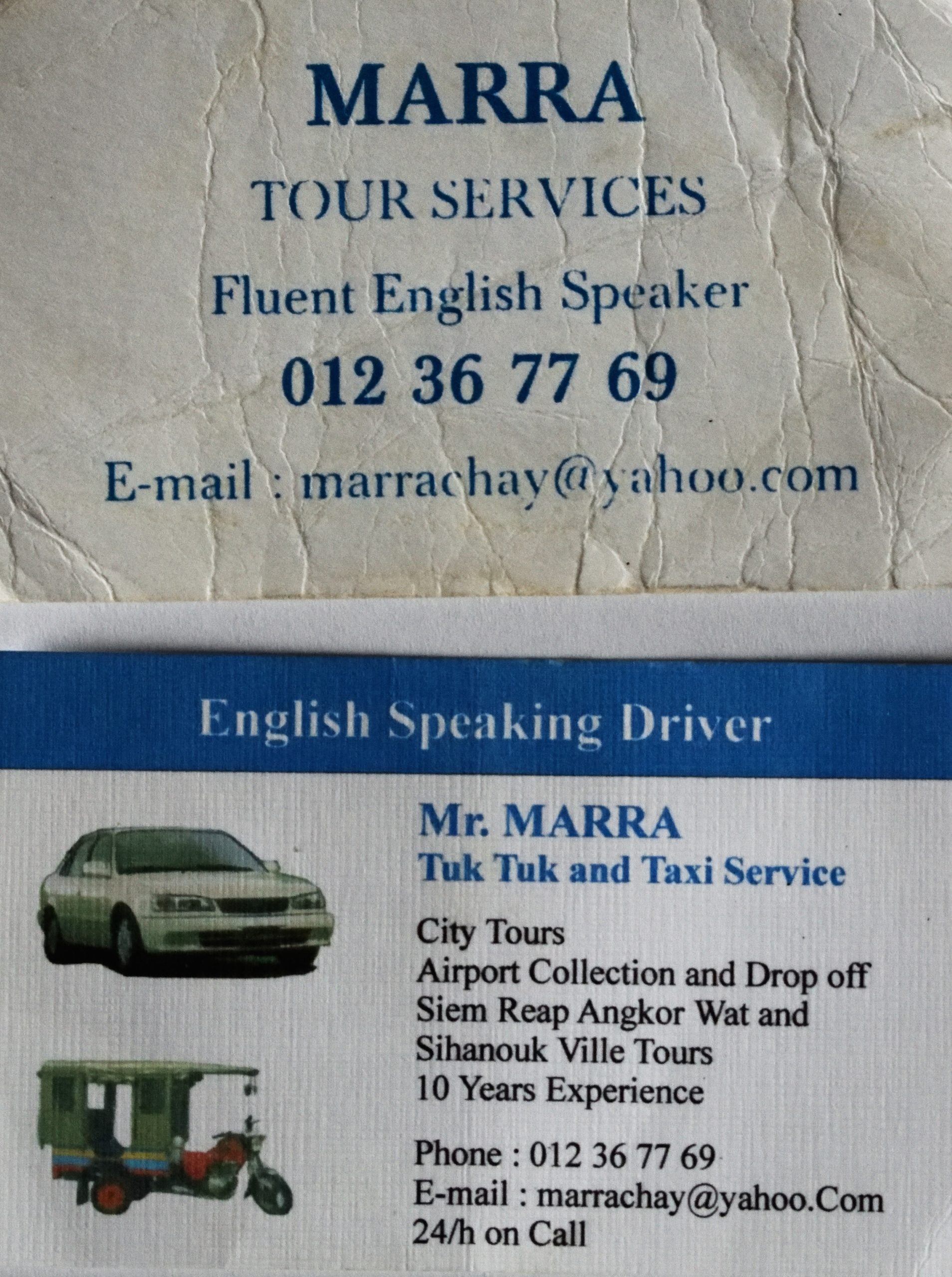 Visitenkarte meines TukTuk Fahrers