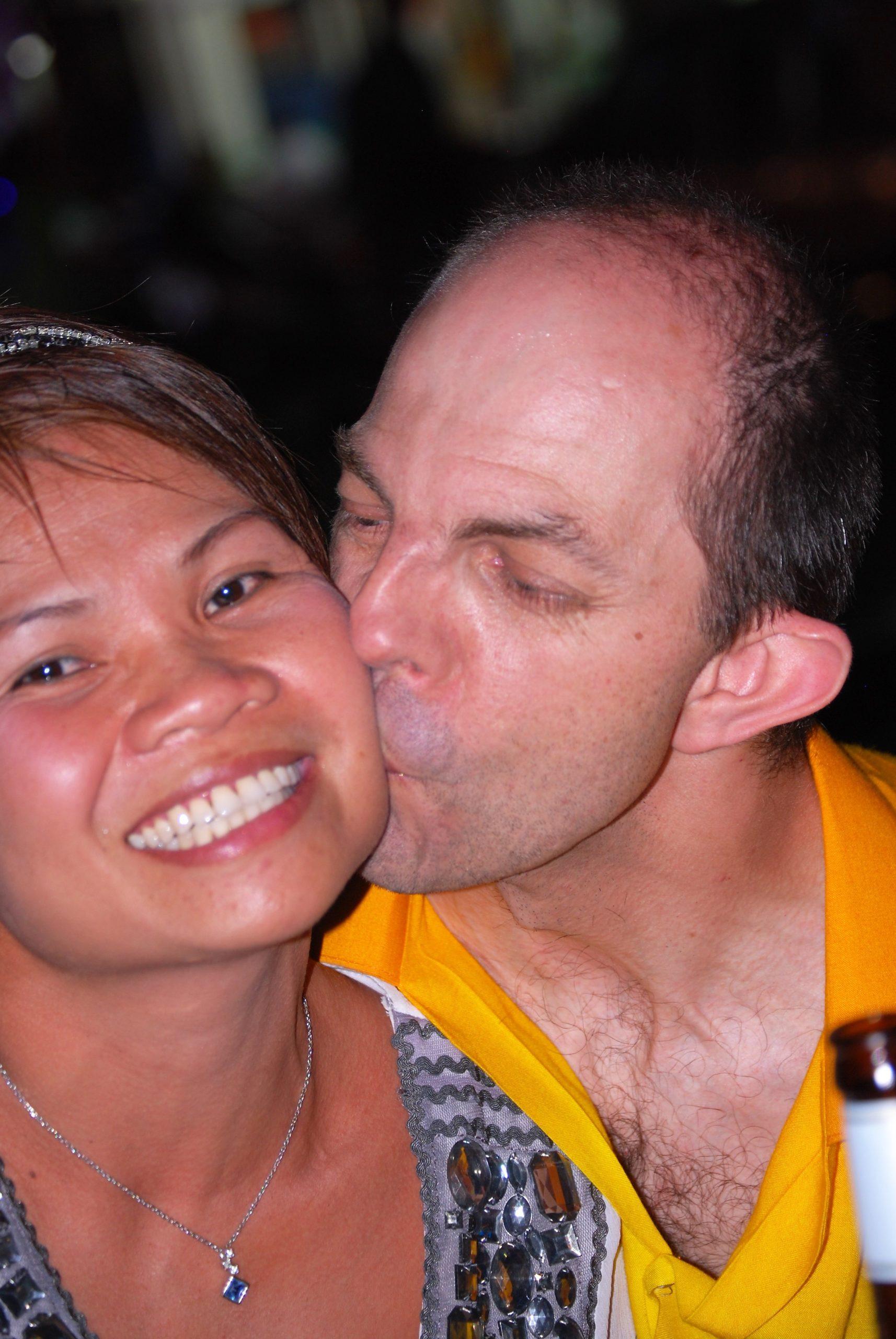 Ein Küsschen als Dankeschön für den Tanz - Mario Teusch
